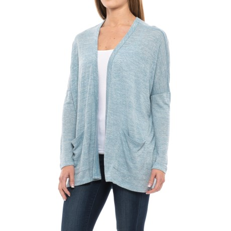 B Collection by Bobeau Rumor Cardigan Sweater - Semi Sheer (For Women) in Light Blue