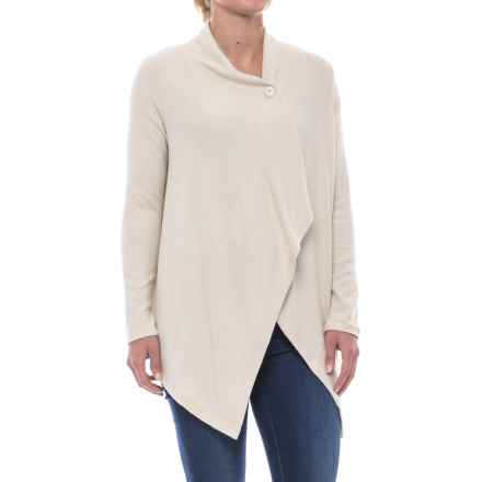 B Collection by Bobeau Signature One-Button Cardigan Sweater (For Women) in Oatmeal - Closeouts