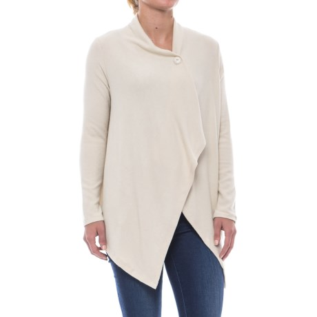 B Collection by Bobeau Signature One-Button Cardigan Sweater (For Women) in Oatmeal