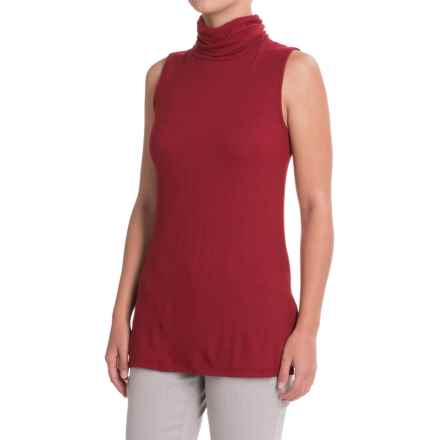 B Collection by Bobeau Sloan Turtleneck Tank Top (For Women) in Red - Closeouts