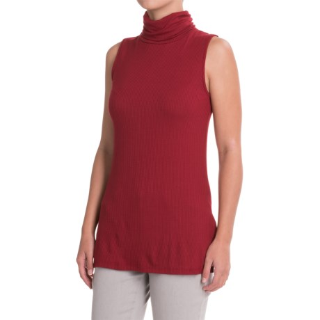 B Collection by Bobeau Sloan Turtleneck Tank Top (For Women) in Red