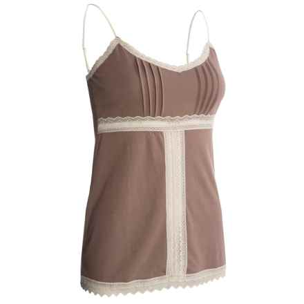 B Up Sophie Basics Camisole - Pima Cotton-Modal (For Women) in Taupe - Closeouts