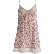 B Up Vicky Chemise - Spaghetti Strap, Supersoft Pima-Modal (For Women) in Print - Closeouts