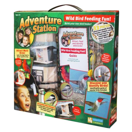 b4Adventure Adventure Station Wild Bird Feeding Kit in See  Photo