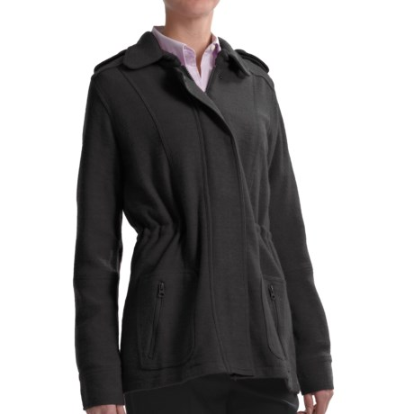 Babette Ballinger Boiled Wool Jacket (For Women) in Black