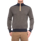 Baby Alpaca Gents Herringbone Sweater - Zip Neck (For Men)