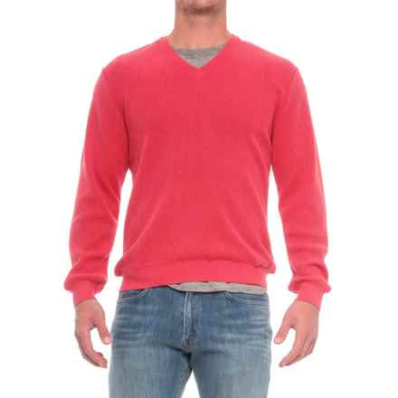 Baby Alpaca V-Neck Sweater (For Men) in Strawberry - Closeouts