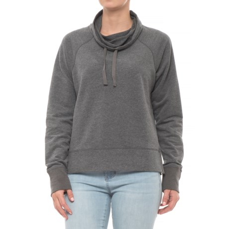 Image of Baby French Terry Cowl Neck Shirt - Long Sleeve (For Women)