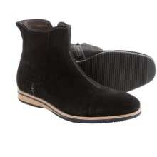Bacco Bucci Borsetti Suede Boots (For Men) in Black - Closeouts