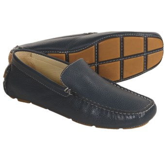 Bacco Bucci Devers Driving Loafer Shoes - Leather (For Men) in Blue