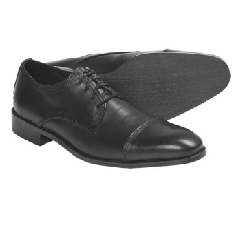 Bacco Bucci Kayler Calfskin Oxford Shoes - Cap Toe (For Men) in Black