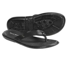 Bacco Bucci Sculley Sandals - Leather, Flip-Flops (For Men) in Black - Closeouts