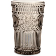 Baci Milano Arabesque Collection Acrylic Tumbler - 14 fl.oz. in Wood - Closeouts