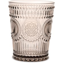 Baci Milano Arabesque Collection Acrylic Water Glass - 11.5 fl.oz. in Wood - Closeouts