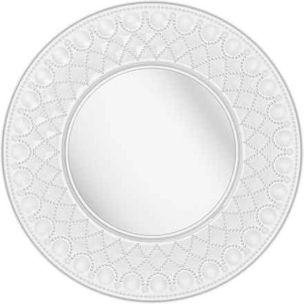 """Baci Milano Diamonte Collection Acrylic Charger Plate - 13"""" in Clear - Closeouts"""