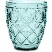 Baci Milano Diamonte Collection Acrylic Water Glass - 13 fl.oz. in Aqua - Closeouts