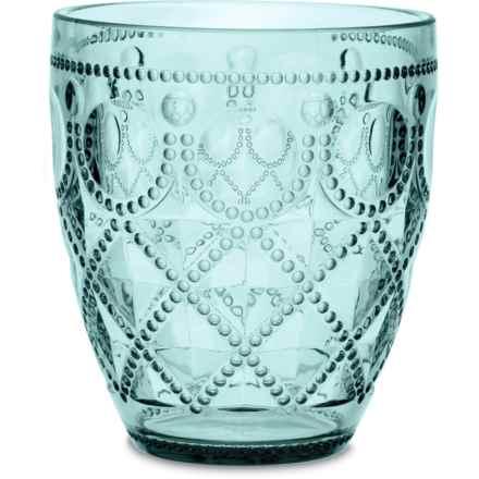 Baci Milano Diamonte Collection Acrylic Water Glass - 13 fl.oz. in Aqua - Closeouts