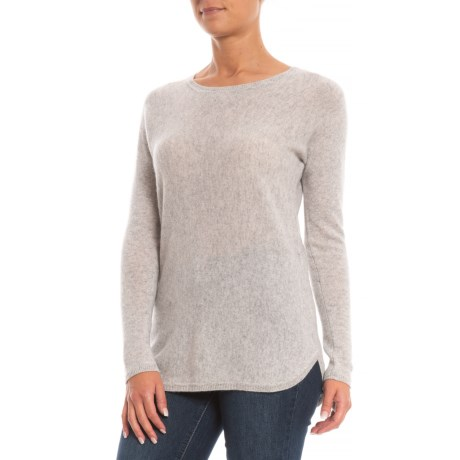 Image of Back Zip Cashmere Sweater (For Women)