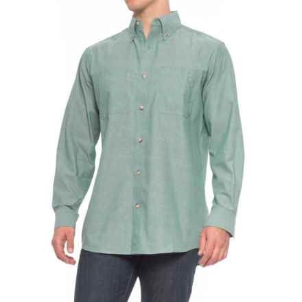 Backpacker Classic Chambray Shirt - Long Sleeve (For Men) in Green - Overstock