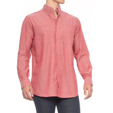 Backpacker Classic Chambray Shirt - Long Sleeve (For Men) in Red