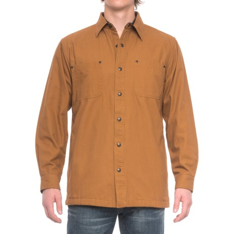Fleece lined shirt jacket men
