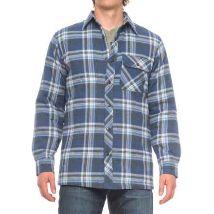 Backpacker Flannel Shirt Jacket (For Men) in Blue Green - Closeouts
