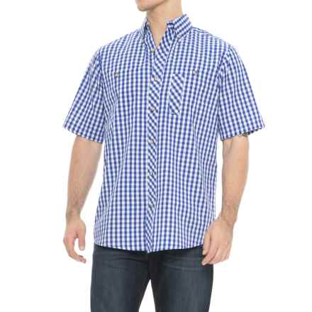 Backpacker Lazy Days Gingham Check Shirt - Short Sleeve (For Men) in French Blue - Overstock