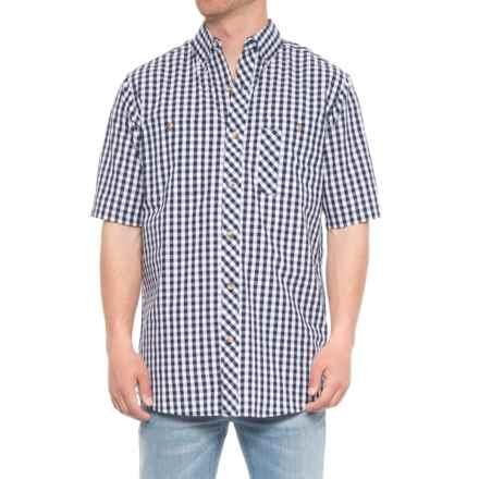 Backpacker Lazy Days Gingham Check Shirt - Short Sleeve (For Men) in Navy - Overstock