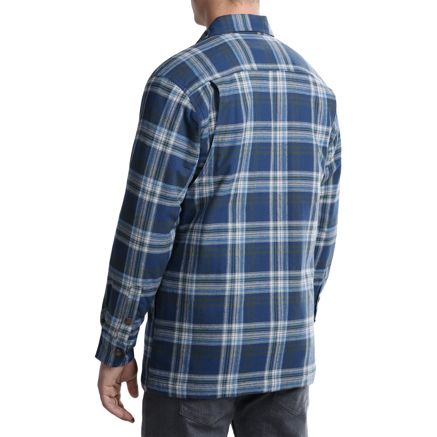 Backpacker quilted flannel shirt jacket for men save 33 for Flannel shirt and vest