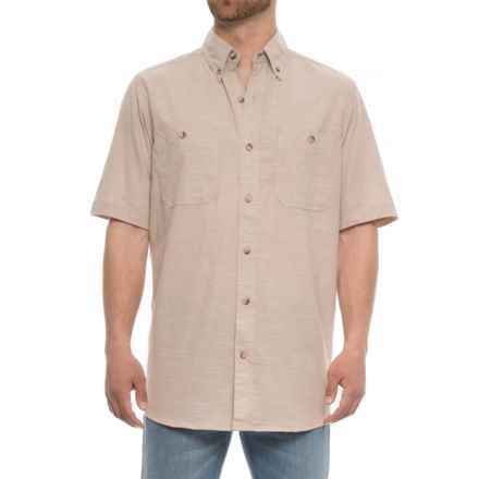 Backpacker Slub Chambray Shirt - Short Sleeve (For Men) in Beige - Overstock
