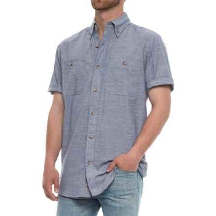 Backpacker Slub Chambray Shirt - Short Sleeve (For Men) in Cadet - Overstock