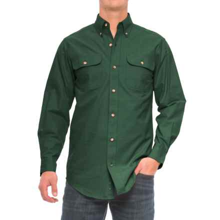 Backpacker Solid Flannel Shirt - Long Sleeve (For Men) in Pine - Closeouts