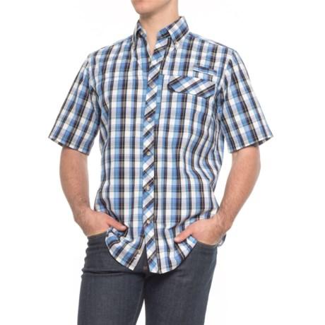Backpacker Sport Utility Shirt - UPF 35+, Short Sleeve (For Men) in Blue