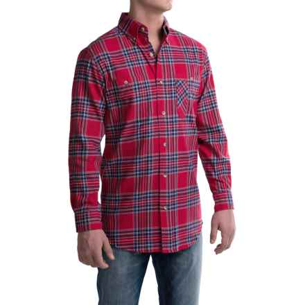 Backpacker Yarn-Dyed Flannel Shirt - Long Sleeve (For Men) in Blue Stuart - Closeouts