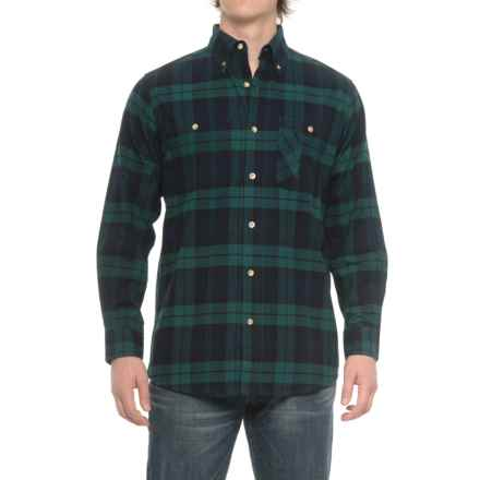 Backpacker Yarn-Dyed Plaid Flannel Shirt - Long Sleeve (For Men) in Black Watch - Closeouts