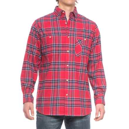 Backpacker Yarn-Dyed Plaid Flannel Shirt - Long Sleeve (For Men) in Blue Stuart - Closeouts