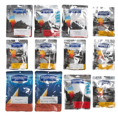 Backpackers Pantry Gourmet Backpacker's Meal Pack 2 Person, 3 Day