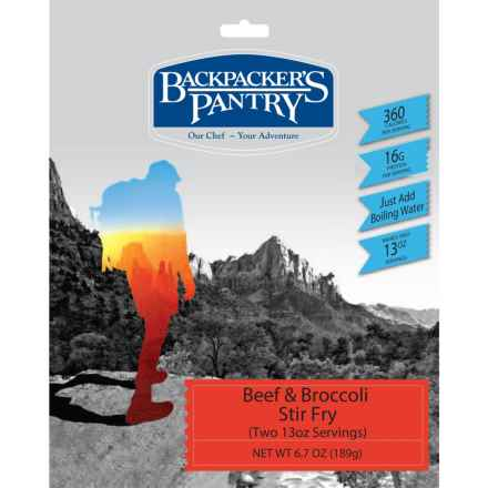 Backpacker's Pantry Beef and Broccoli Stir Fry - 2 Servings in See Photo - Closeouts