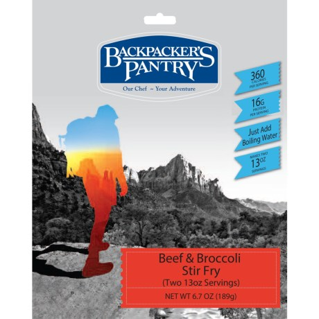 Backpacker's Pantry Beef and Broccoli Stir Fry - 2 Servings in See Photo