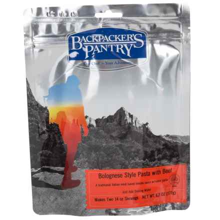 Backpacker's Pantry Bolognese-Style Beef and Pasta - 2 Servings in See Photo - Closeouts