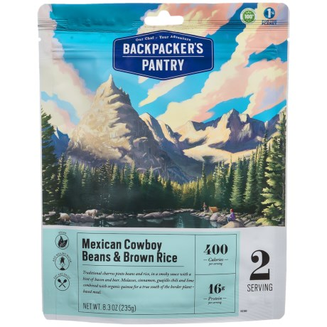 Backpacker's Pantry Charros Beans and Rice - 2 Servings in See Photo