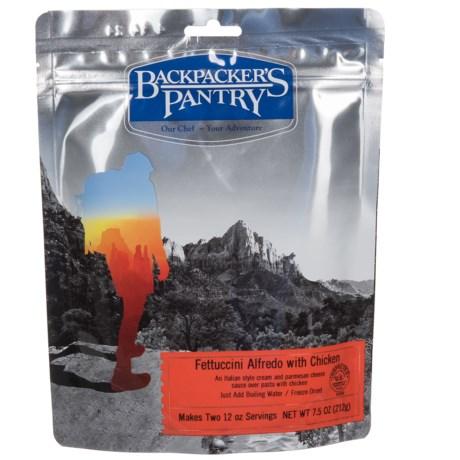 Backpacker's Pantry Chicken Fettuccine Alfredo - 2 Servings in See Photo