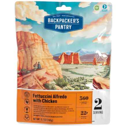 Backpacker's Pantry Chicken Fettuccine Alfredo Meal - 2 Servings in See Photo - Closeouts