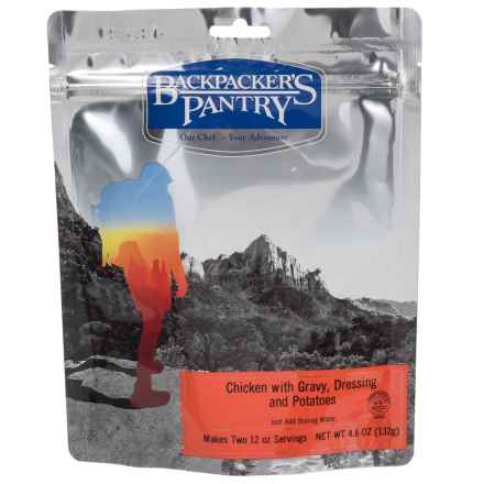 Backpacker's Pantry Chicken with Gravy, Dressing and Potatoes - 2 Servings in See Photo - Closeouts