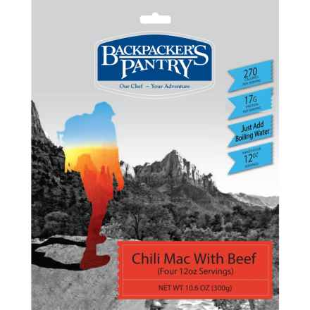 Backpacker's Pantry Chili Mac and Beef - 4 Servings in See Photo - Closeouts