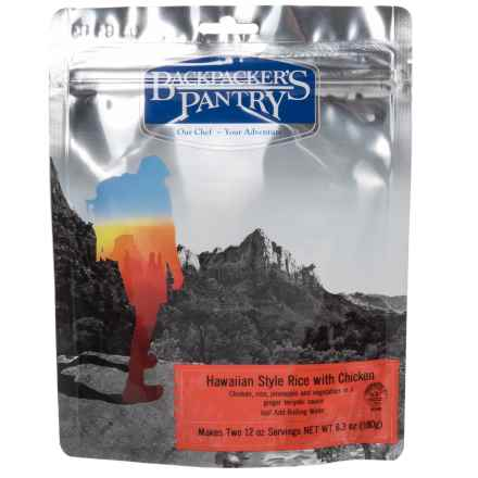 Backpacker's Pantry Hawaiian Chicken and Rice - 2 Servings in See Photo - Closeouts