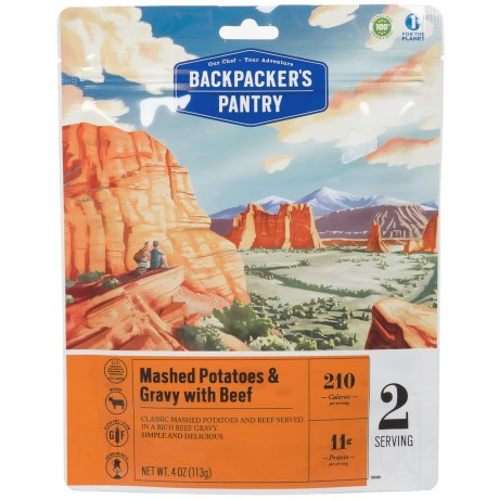 Backpacker's Pantry Mashed Potatoes and Beef Gravy - 2 Servings in See Photo