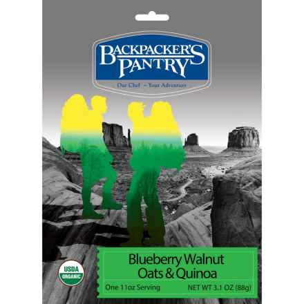 Backpacker's Pantry Organic Blueberry Walnut Oats and Quinoa - 1 Serving in See Photo - Closeouts