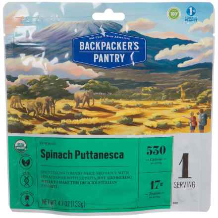 Backpacker's Pantry Organic Spinach Puttanesca - 1 Serving in See Photo - Closeouts