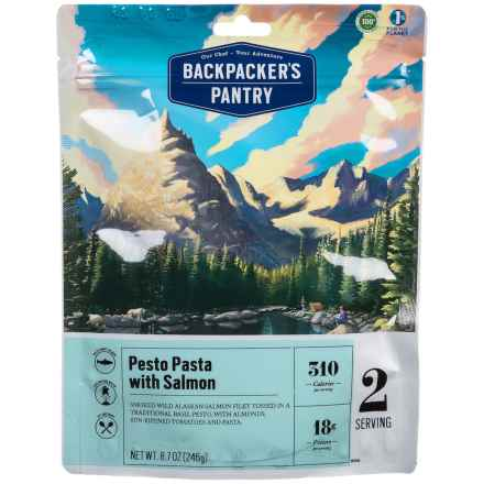 Backpacker's Pantry Pesto Salmon Pasta - 2 Servings in See Photo - Closeouts
